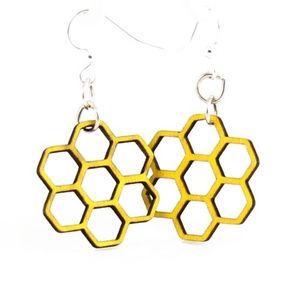Yellow Honeycomb Blossoms Earrings